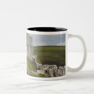 Ruins of Corfe Castle, near Wareham, Dorset, Two-Tone Coffee Mug