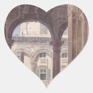 Ruins of Diocletian at Spalato by Rudolf von Alt Heart Sticker
