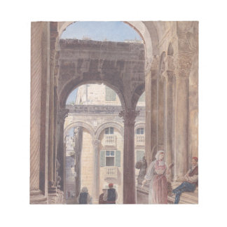 Ruins of Diocletian at Spalato by Rudolf von Alt Memo Note Pad