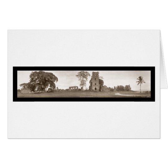 Ruins of Old Panama Photo 1930 Card
