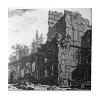 Ruins of one of the chambers` soldiers at one ceramic tile