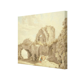Ruins of Pevensey Castle (w/c on paper) Canvas Print