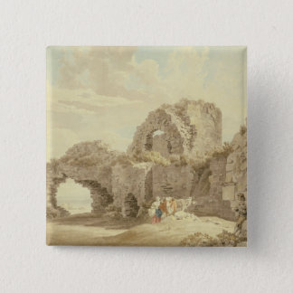 Ruins of Pevensey Castle (w/c on paper) Pinback Button