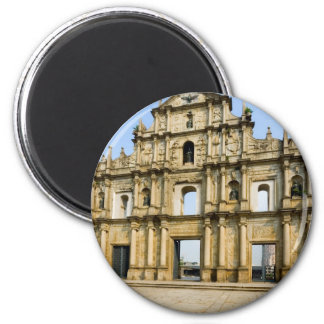 Ruins of Saint Paul's Cathedral 2 Inch Round Magnet