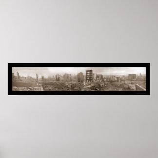 Ruins of San Francisco Photo 1906 Print