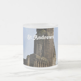 Ruins of St Andrews Frosted Glass Coffee Mug