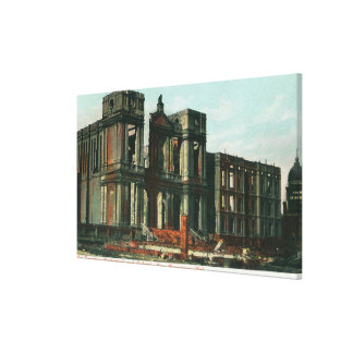 Ruins of St. Ignatius Cathedral and School Gallery Wrap Canvas