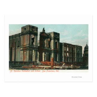 Ruins of St. Ignatius Cathedral and School Postcard