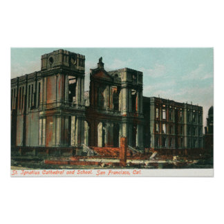 Ruins of St. Ignatius Cathedral and School Poster