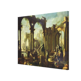 Ruins of the Baths of Caracalla Gallery Wrapped Canvas