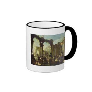 Ruins of the Baths of Caracalla Ringer Coffee Mug