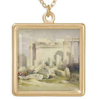 Ruins of the Eastern Portico of the Temple of Baal Gold Plated Necklace