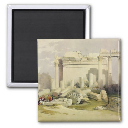 Ruins of the Eastern Portico of the Temple of Baal 2 Inch Square Magnet