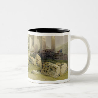 Ruins of the Eastern Portico of the Temple of Baal Two-Tone Coffee Mug