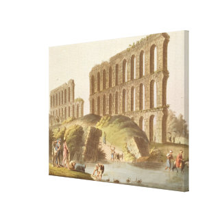 Ruins of the Grand Aqueduct of Ancient Carthage, p Canvas Print