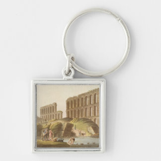 Ruins of the Grand Aqueduct of Ancient Carthage, p Key Chain