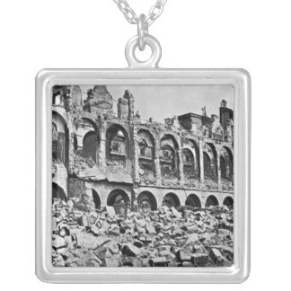 Ruins of the Ministry of Finance Square Pendant Necklace