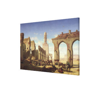 Ruins of the Mosque of the Caliph El Haken Gallery Wrapped Canvas