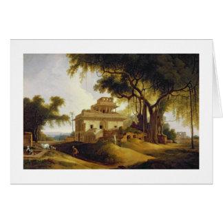 Ruins of the Naurattan, Sasaram, Bihar, 1811 (oil Greeting Card