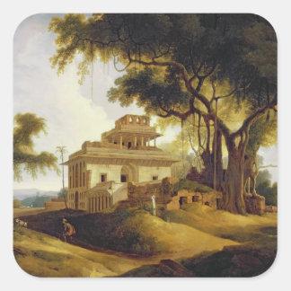 Ruins of the Naurattan, Sasaram, Bihar, 1811 (oil Square Sticker