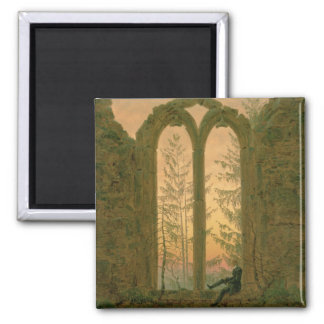 Ruins of the Oybin Monastery  1835-40 2 Inch Square Magnet