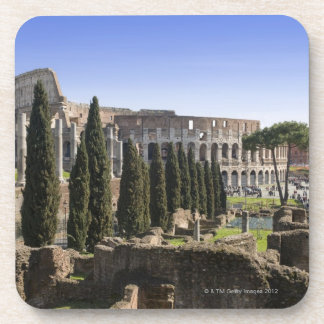 Ruins of the Roman Colosseum from Il Palatino, Drink Coaster