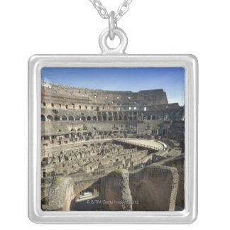Ruins of the Roman Colosseum, Rome, Italy Silver Plated Necklace