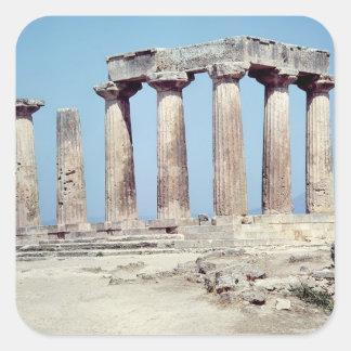Ruins of the Temple of Apollo, c.550 BC Square Sticker