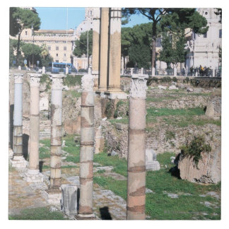 Ruins of the Temple of Castor and Pollux, Italy Ceramic Tile