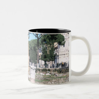 Ruins of the Temple of Castor and Pollux, Italy Two-Tone Coffee Mug
