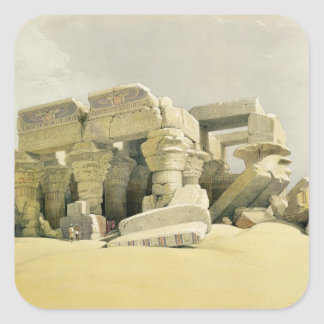 """Ruins of the Temple of Kom Ombo, from """"Egypt and N Square Sticker"""