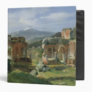 Ruins of the Theatre at Taormina 3 Ring Binder