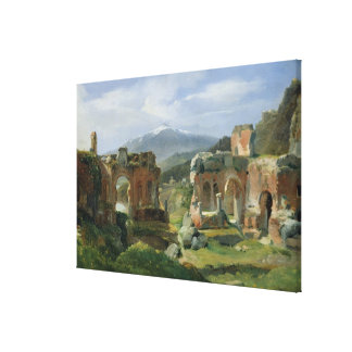 Ruins of the Theatre at Taormina Gallery Wrap Canvas