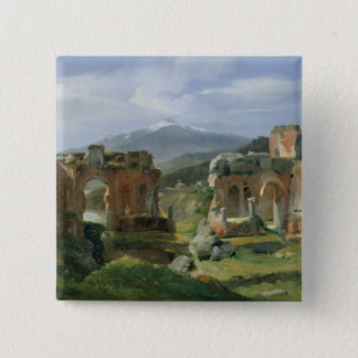 Ruins of the Theatre at Taormina Pinback Button