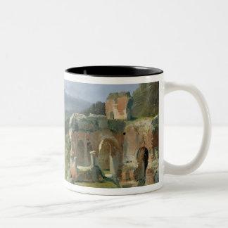 Ruins of the Theatre at Taormina Two-Tone Coffee Mug