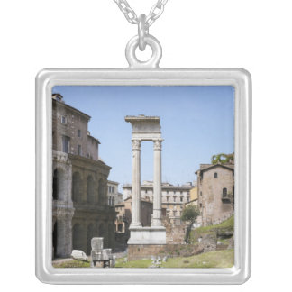 Ruins of Theater of Marcellus Silver Plated Necklace