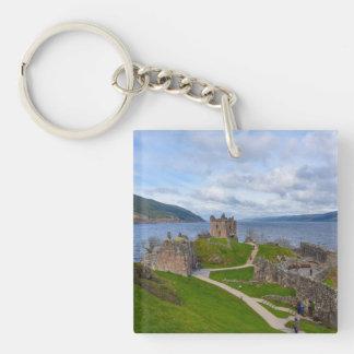 Ruins of Urquhart Castle along Loch Ness, Scotland Keychain