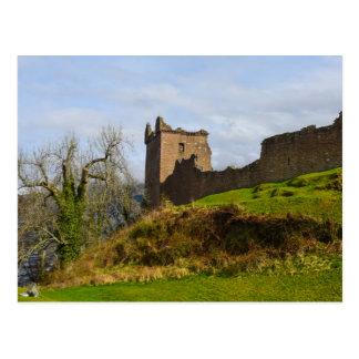 Ruins of Urquhart Castle along Loch Ness, Scotland Postcard