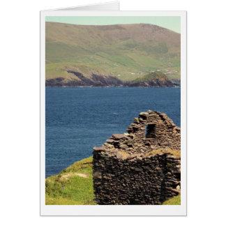 Ruins on Great Blasket Island, Ireland Card