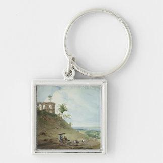 Ruins on Pir Pihar, near Monghy, Bihar, 1790 (w/c Silver-Colored Square Keychain