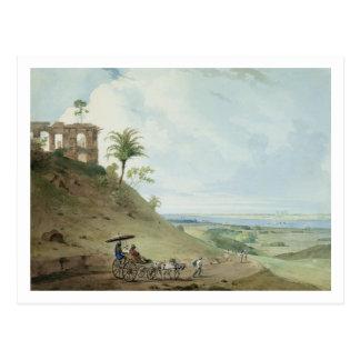 Ruins on Pir Pihar, near Monghy, Bihar, 1790 (w/c Postcard