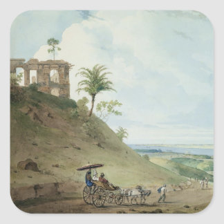 Ruins on Pir Pihar, near Monghy, Bihar, 1790 (w/c Square Sticker