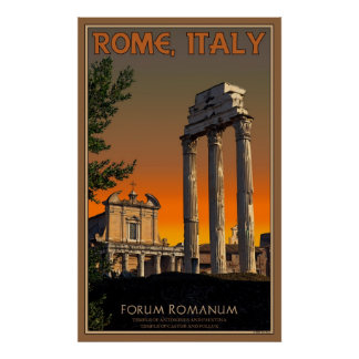 Ruins on the Roman Forum Poster