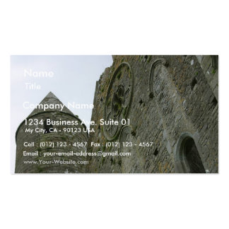 Ruins Rock Of Cashel Rose Windows Round Towers Wal Business Cards