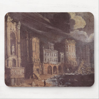 Ruins with the Legend of St. Augustine (oil on can Mouse Pad
