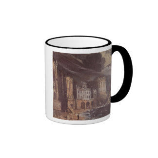 Ruins with the Legend of St. Augustine (oil on can Ringer Mug