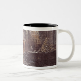 Ruins with the Legend of St. Augustine (oil on can Two-Tone Coffee Mug