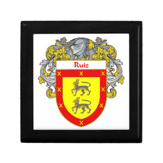 Ruiz Coat of Arms/Family Crest Jewelry Box