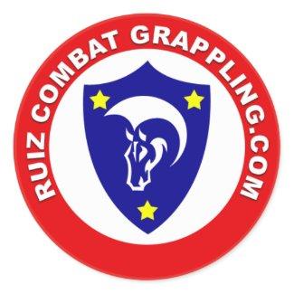 Ruiz Combat Grappling Logo Classic Round Sticker