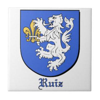 Ruiz Family Shield Decorative Tile